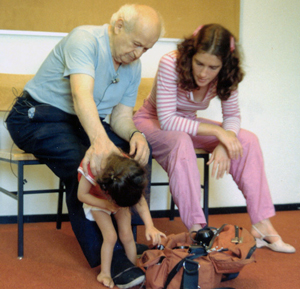 Feldenkrais works with child and Anat Baniel